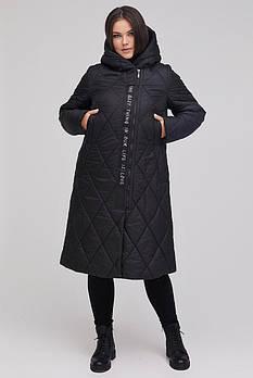 / Размер 48 / Женское удлиненная пальто из плащевой ткани стежка ромб М-957