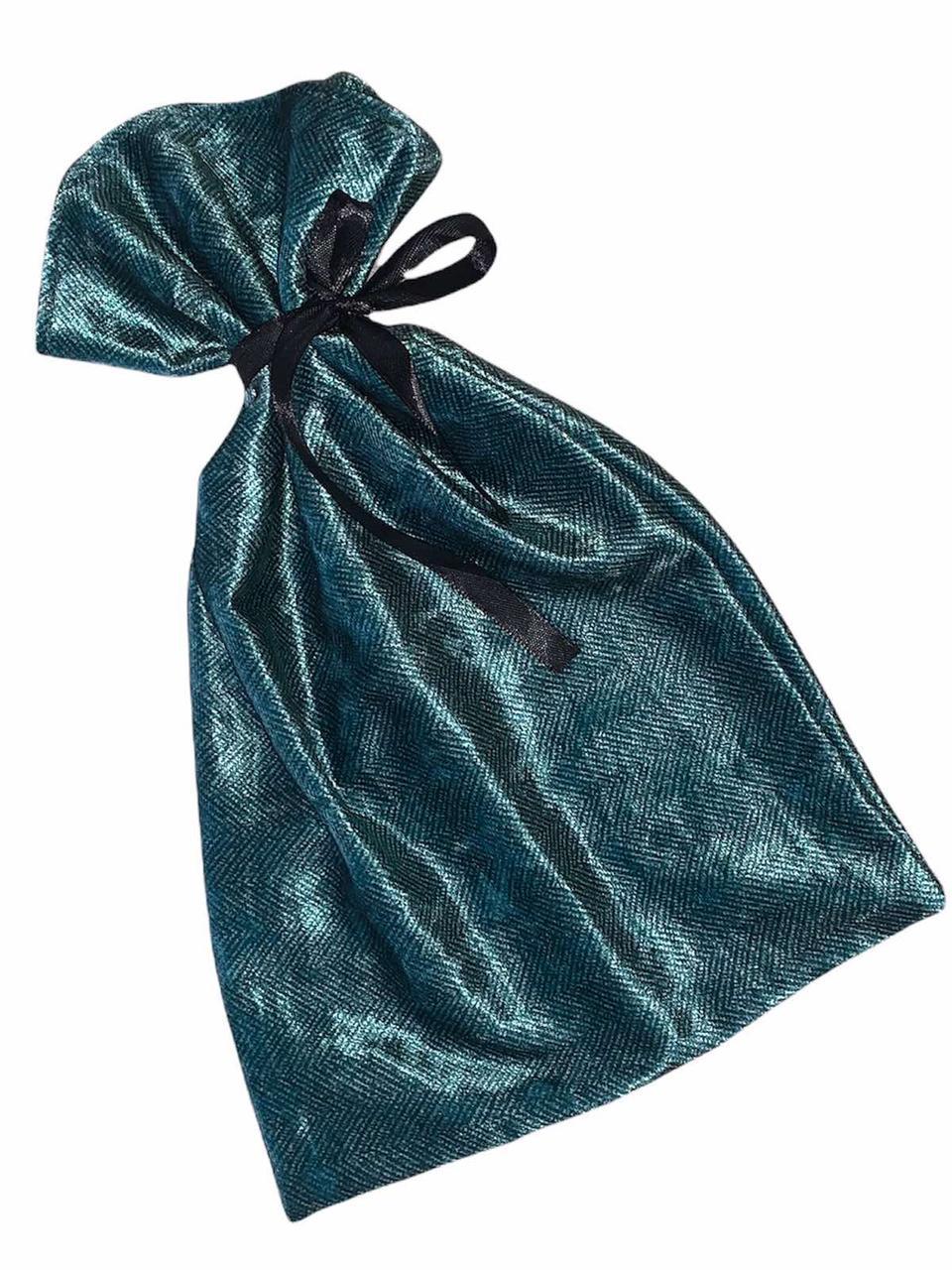 Велюровый мешочек для упаковки с атласной лентой
