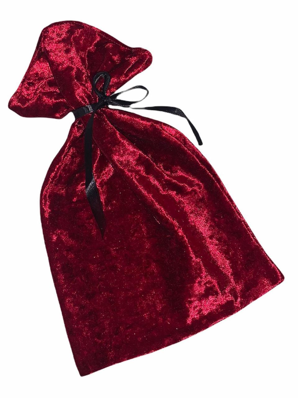 Бархатный мешочек для упаковки с атласной лентой
