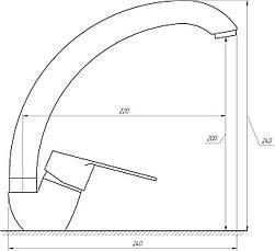 Змішувач для кухні DOMINO BLITZ DBC-203S-WH, фото 3