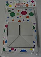 Коробка для маффинов 4шт. кружок (код 04632)
