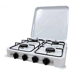 Настільна газова плита-таганок Mirta GS-1004LW на 4 конфорки з верхньою кришкою