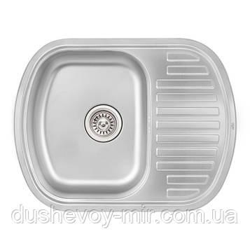 Кухонная мойка Qtap 6349 Micro Decor 0,8 мм (QT6349MICDEC08)