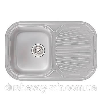 Кухонная мойка Qtap 7448 Micro Decor 0,8 мм (QT7448MICDEC08)