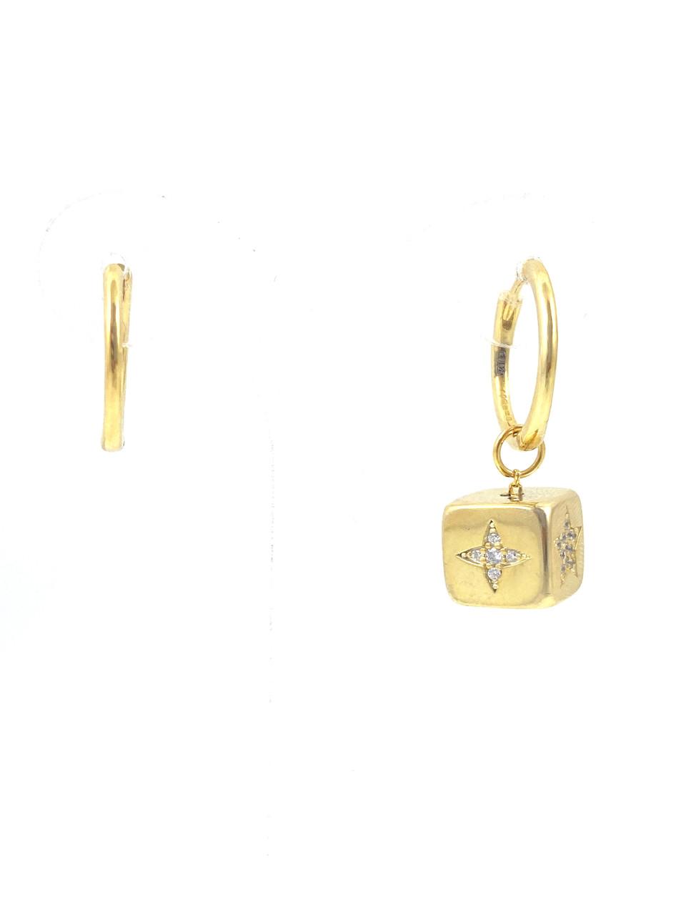 Серьги серебряные Т-1-жц