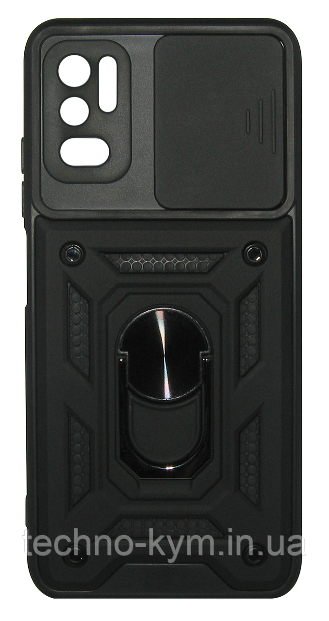 Накладка Xiaomi Redmi Note 10 5G/POCO M3 Pro black Camshield Honor New