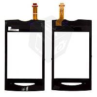 Touchscreen (сенсорный экран) для Sony Ericsson W150, оригинал (черный)