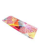 Килимок для йоги Замшевий 183 х 68 х 0,3 см з мандалою Rainbow