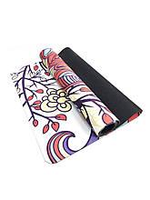 Килимок для йоги Замшевий 183 х 68 х 0,3 см з мандалою Sakura