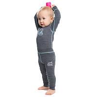 Термолеггинсы детские NORVEG Soft Merino Wool (размер 104-110, серый меланж)