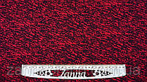 """Ткань футер двунитка красно-черного цвета """"Малефисента"""""""