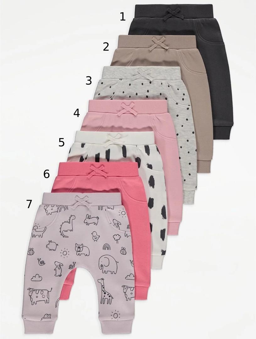 Різноманітні трикотажні джогери для дівчинки Джордж (поштучно)