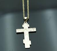 Позолоченные кулоны кресты с цепочкой 40см. Ювелирная бижутерия FJ Fallon. 1