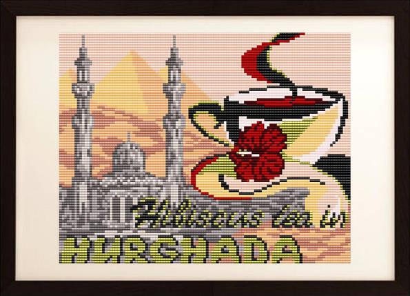 """Рисунок на ткани для вышивания бисером """"на каркаде в Хургаду"""", фото 2"""