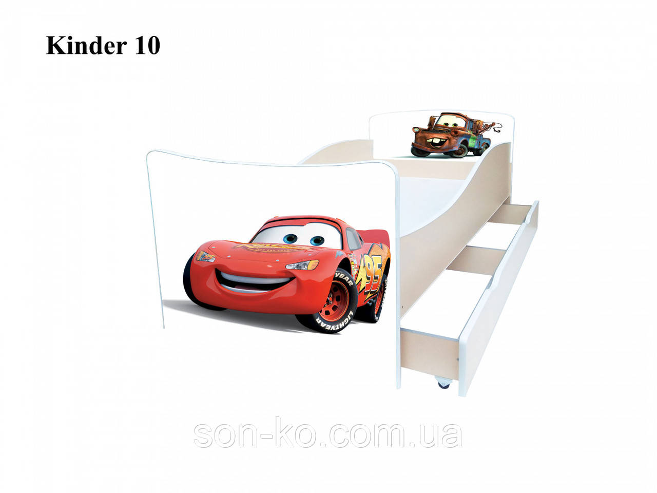 Кровать детская Киндер Машины. Бесплатная доставка