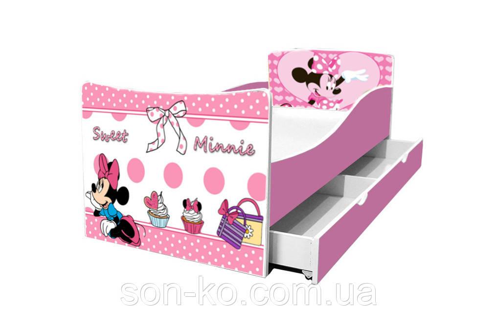 Ліжко дитяче Кіндер Мінні Маус. Безкоштовна доставка