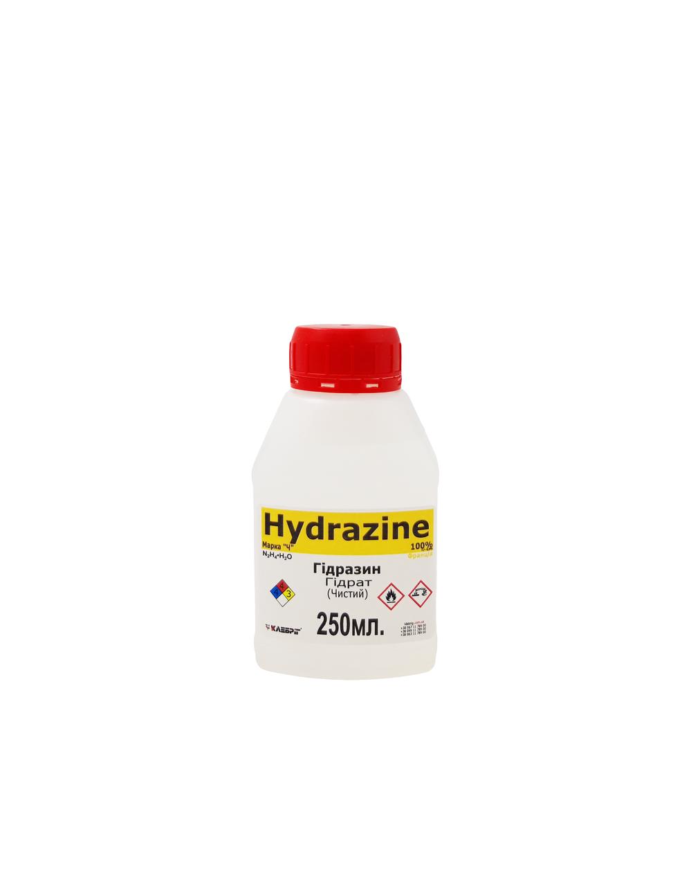 Гидразин Гидрат техническая для аффинажа металлов 250 мл