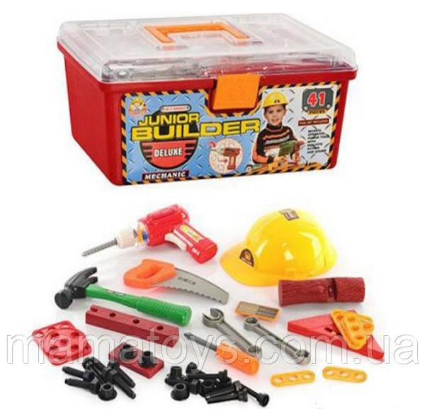 Іграшковий Набір інструментів 2058 з каскою у валізі 41 деталь