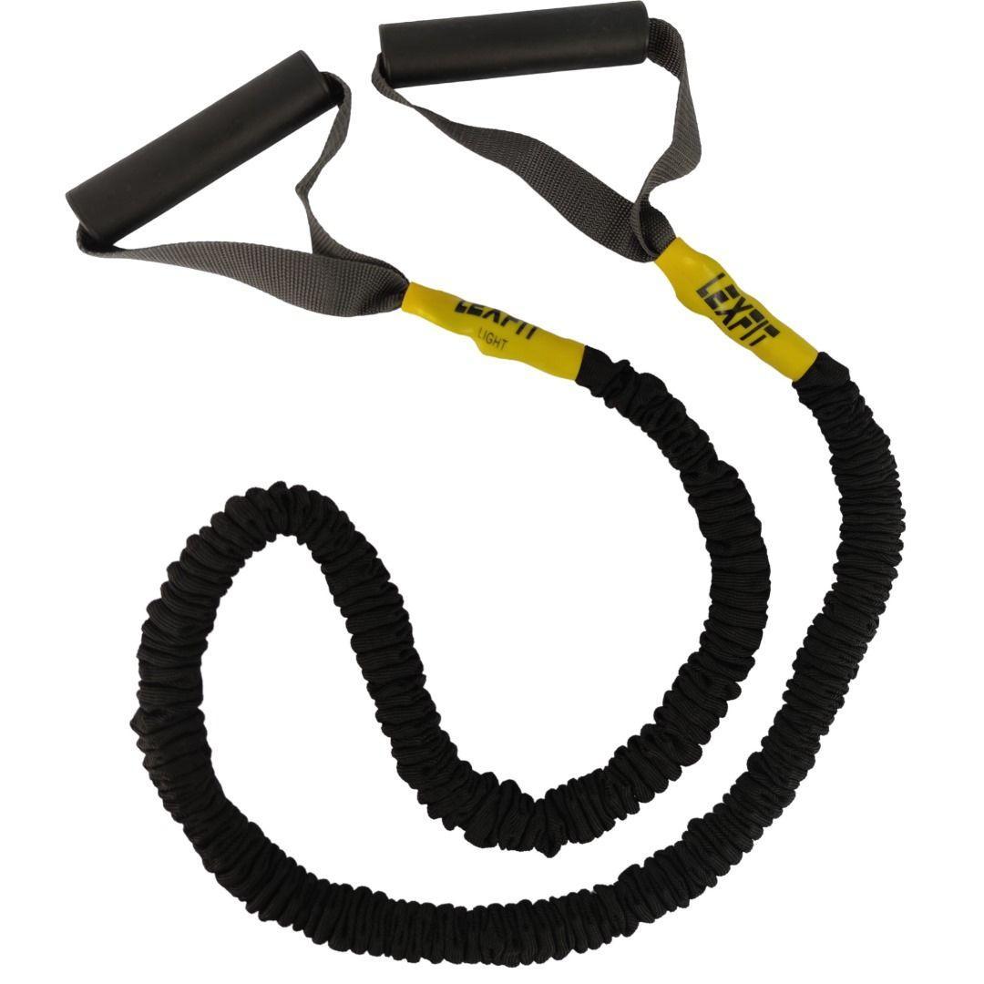 Еспандер гумовий LEXFIT 6х10х1200 чорний
