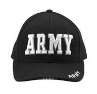 """Бейсболка """"ARMY""""/9385 DELUXE BLACK LOW PROFILE CAP - ''ARMY''"""