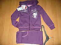 Спортивный трикотажный костюм для девочек с начесом, 3-8лет