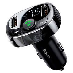 Авто FM модулятор BASEUS T typed with Bluetooth FM трансмітер для авто S-09A 2USB, 2.4A