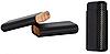 Футляр 0408200 для 3 сигар, Colton, черный карбон, велюровый чехол, 14х2 см