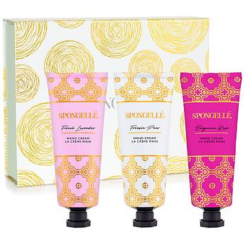 Набор кремов для рук Spongellé Hand Cream Gift Set (Bulgarian Rose, Freesia Pear, French Lavender) 3х57 г