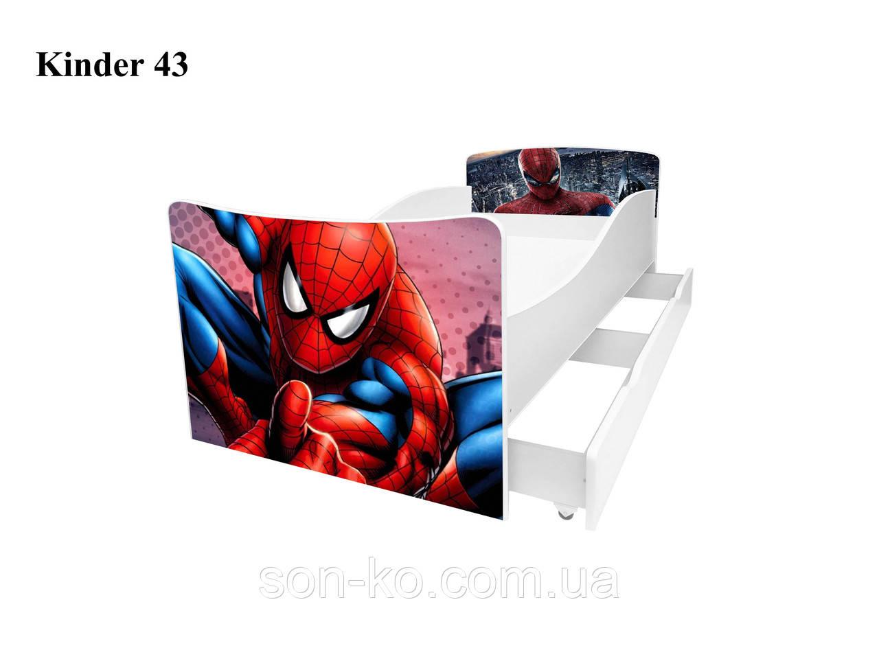 Ліжко дитяче Кіндер Людина-Павук. Безкоштовна доставка