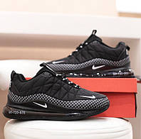Кроссы теплые женские Найк Аир Макс черные зима Зимние женские кроссовки Nike AirMax MX-720-878 Black