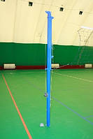 Стойка волейбольна /бадминтона с регулировкой высоты и приспособлением натяжение троса (комплект)с стаканами