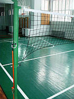 Стойки волейбольные с приспособлением натяжение троса без регулировки по высоте