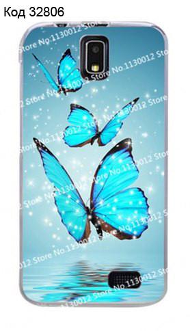 Чехол для lenovo a328 панель накладка с рисунком бабочки
