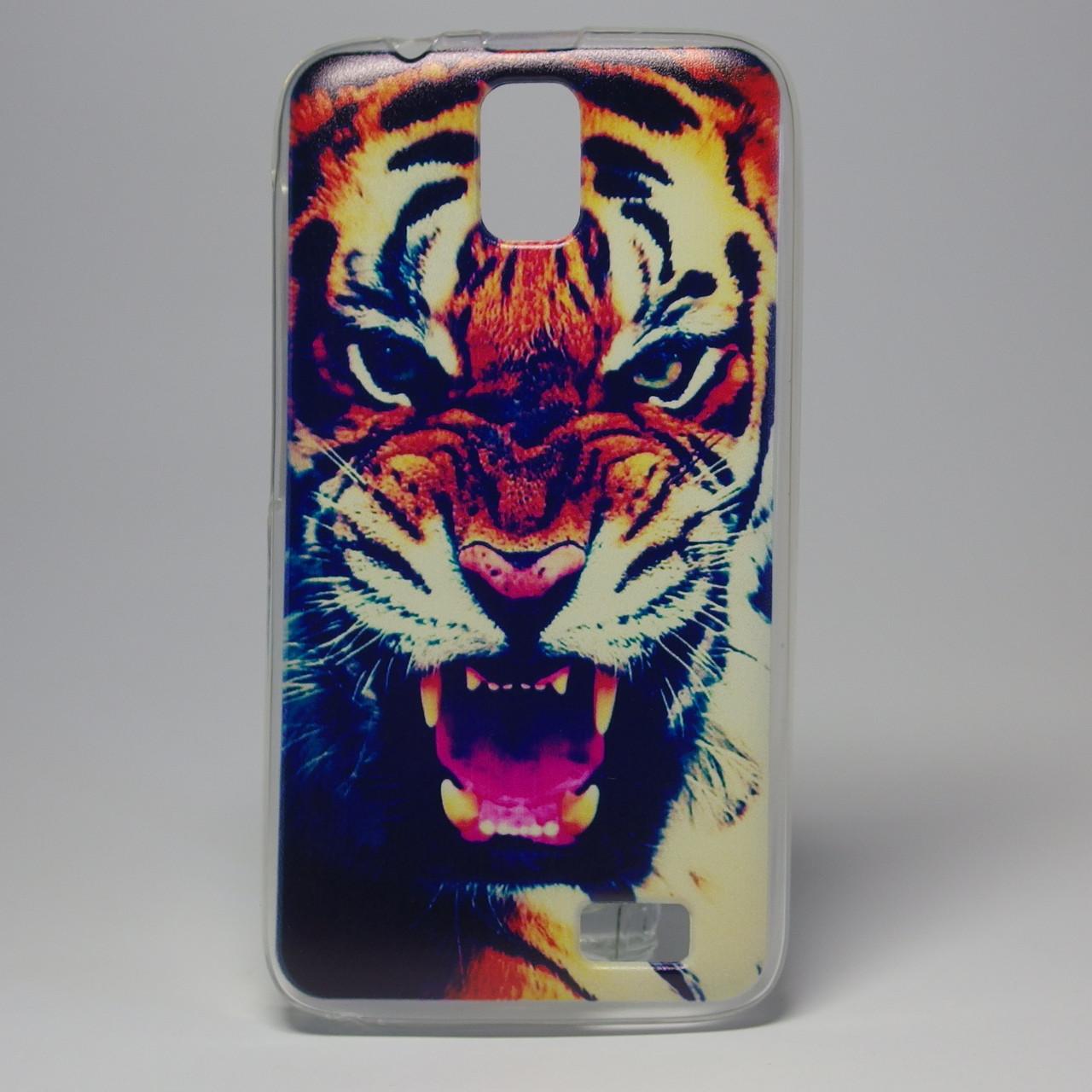 Чехол для lenovo a328 панель накладка с рисунком тигр