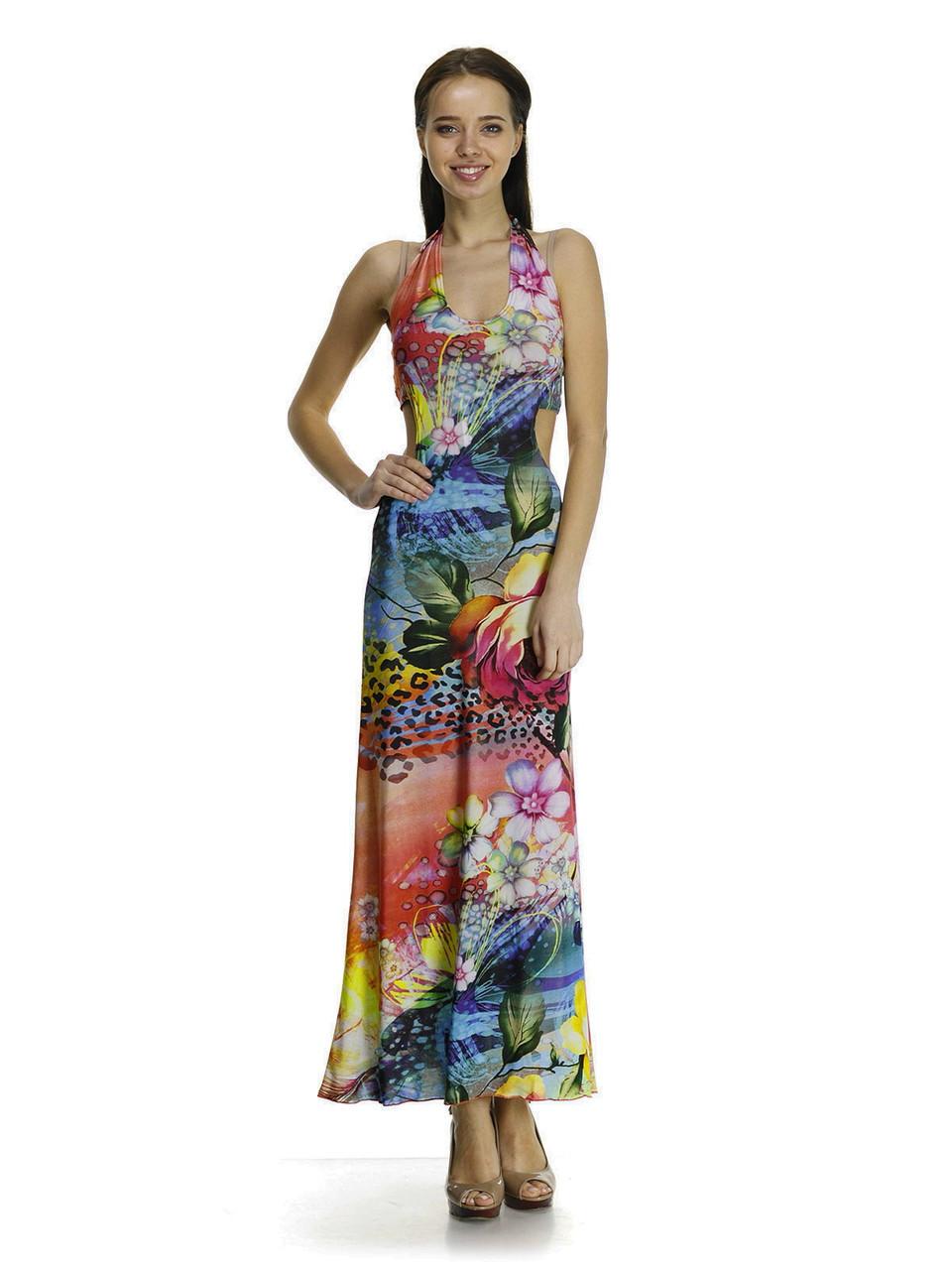 Купить  стильное платье-сарафан в пол. Сарафан Роза.