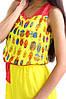 Стильное шифоновое платье. Жучок жёлтый., фото 2