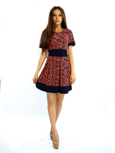 Броское молодежное платье. Ассоль коралл.
