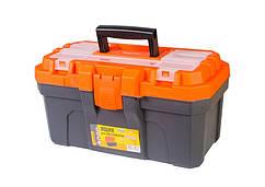 """Ящик для инструмента MASTERTOOL 16"""" (410х230х205 мм) усиленный пластиковые замки 79-6026"""