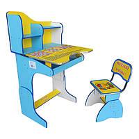 Парта + стул E2071 BLUE-YELLOW Веселой учебы