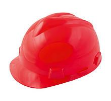 """Каска будівельна """"V"""" MASTERTOOL (контролюючі органи) червона 81-1007"""