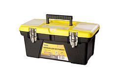 """Ящик для инструмента MASTERTOOL 16"""" (415х210х190 мм) съемные органайзеры металлические замки 79-2316"""