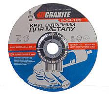 Диск абразивний зачисний по металу GRANITE 180х6.0х22.2 мм 8-04-186