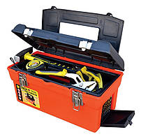 "Ящик для инструмента MASTERTOOL 16.5"" (420х225х210 мм) металлические замки 79-2105"