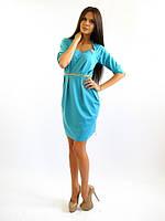 Женское нарядное платье стиля. Памела голубое.