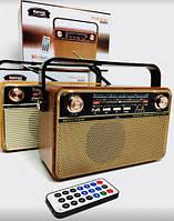 Радіоприймач Kemai Retro MD-505 BT акумуляторний з підсвічуванням + пульт ДУ