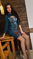 Женское трикотажное платье.  Фаина.