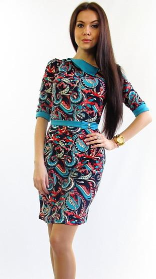 Стильное женское платье.Эсми бирюза