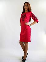 Стильное нарядное платье.  Стефания малинового цвета.