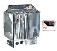 Электрокаменка Amazon AM90MI 9 кВт с выносным пультом CON4 (нерж. сталь)