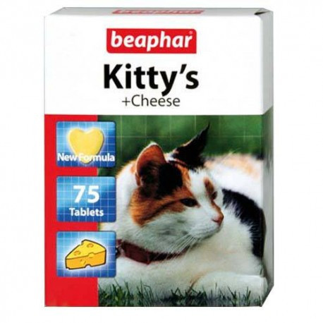 Витамины для кошек Beaphar Kitty's Cheese (Беафар Китти'с Чис) 75 таб.